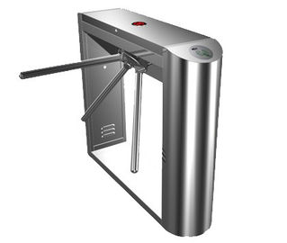 Chiny 0.2s Dual Direction Barcode Stainless Steel Tripod Turnstile Gate for Museum, Library fabryka