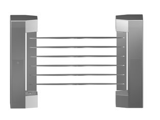 Chiny Indoor 180 Angle Two-way Direction Manual Swing Gate with 304# Stainless Steel Plate fabryka